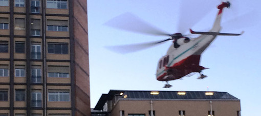 Valdilana: Cade dalla bici e si ferisce gravemente alla testa, elitrasportato al CTO di Torino