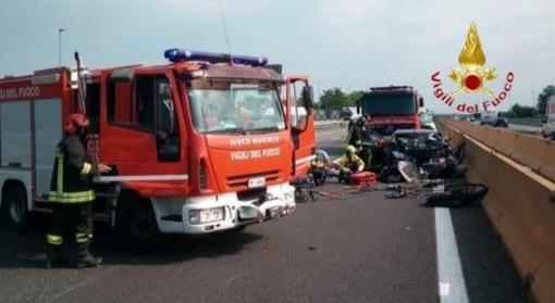 Santhià, incidente mortale in autostrada - FOTO E VIDEO