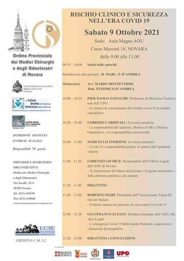 Sabato 9 ottobre ripartono in presenza i corsi dell'Ordine dei Medici