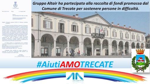 """Il Gruppo Altair dona 5 mila euro al fondo  """"AiutiAMO Trecate"""""""