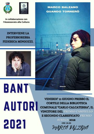 """Venerdì presentazione del libro di Marco Balzano """"Quando tornerò"""""""