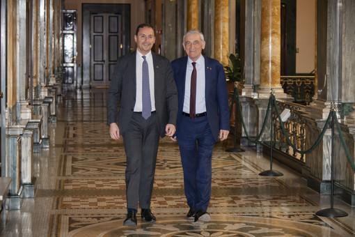 Il Segretario Generale Lapucci insieme al Presidente Quaglia (credits Getty Images)