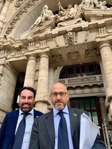 Preioni e Allasia a Roma per depositare il quesito referendario per la modifica della legge elettorale