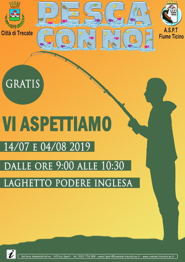 """A Trecate l'evento """"Pesca con noi"""" in collaborazione con l'A.S.P.T. Fiume Ticino"""