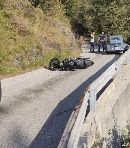 Val Cannobina, grave incidente per un motociclista novarese. Foto e Video