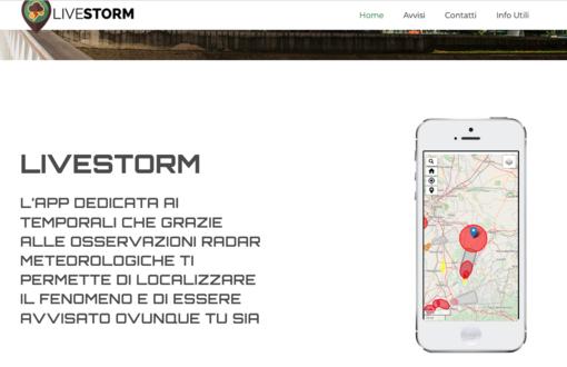 Livestorm, la app che avvisa quando sta per arrivare un temporale