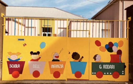 Romagnano Sesia, ingresso rinnovato per la scuola dell'infanzia