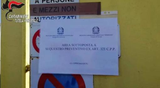I Carabinieri Forestali sequestrano un'azienda adibita a discarica abusiva