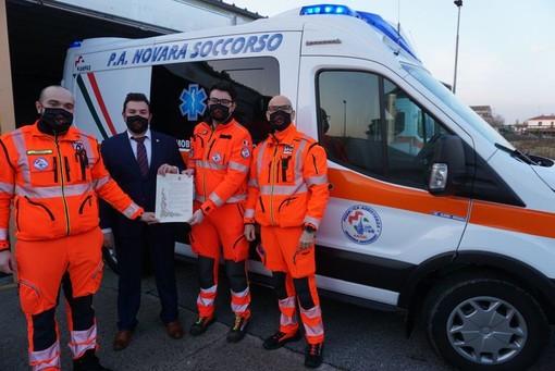 Domani in piazza Duomo sarà inaugurata la nuova ambulanza di Novara Soccorso