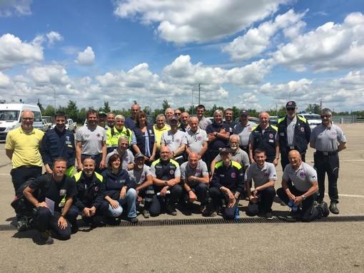La Protezione civile impegnata nell'emergenza di Modena