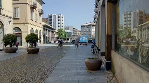 A Novara questa mattina ripertura timida per negozi e parrucchieri