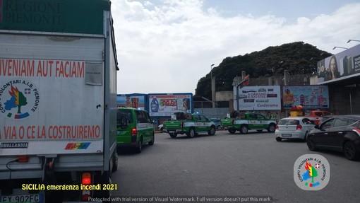 La Colonna Mobile dell'Aib è impegnata negli incendi in Sicilia