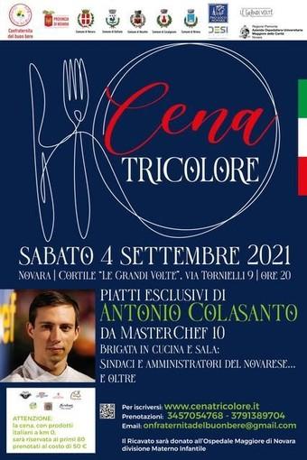 Domani sera a 'Le Grandi Volte di Novara' si svolgerà la Cena Tricolore per la Pediatria