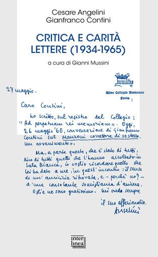 Sabato a La Fabbrica di Carta sarà presentato 'Critica e carità di Gianfranco Contini e Cesare Angelini'
