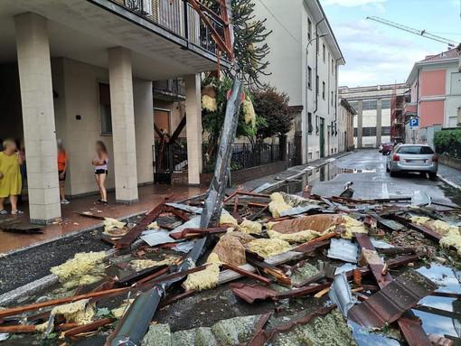 A Trecate si contano i danni dopo la tempesta