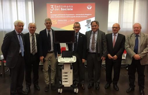 Ancos Confartigianato dona un ecografo all'Ospedale Maggiore della Carità di Novara. Sarà utilizzato nel Reparto di Medicina