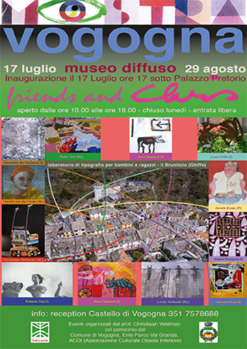 """Il Borgo di Vogogna ospita la mostra """"Friends and Chris"""""""