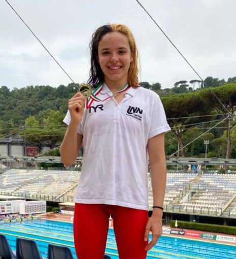 Giorgia Crepaldi della libertas Nuoto vestirà d'azzurro alla Coppa Coem