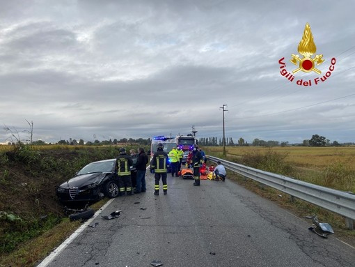 Incidente sulla SP7 di Terdobbiate, feriti i 2 conducenti