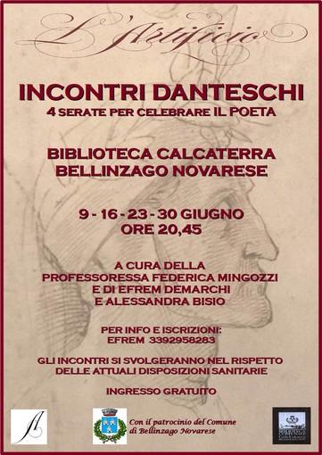 Dal 9 giugno alla biblioteca di Bellinzago sarà celebratoDante
