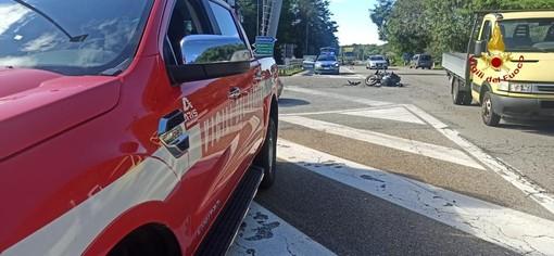 Incidente tra un Suv e una moto all'uscita dell'Autostrada di Paruzzaro