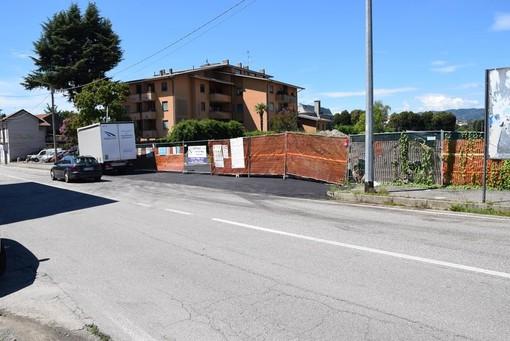 Prosegue il cantiere di via Arona a Borgomanero