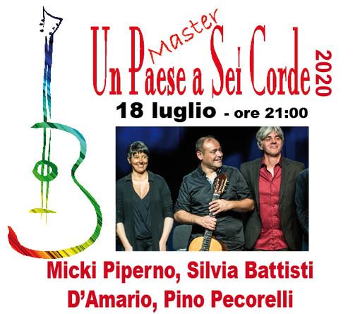 Sabato 18 Luglio a Baveno per la rassegna 'un paese a 6 corde' Miki Piperno e la sua Orchestra Immaginaria