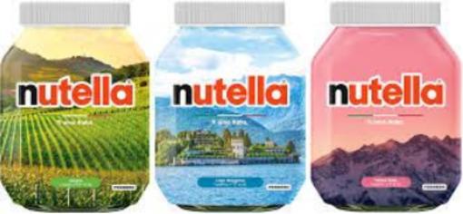 """""""Ti amo Italia"""", Monte Rosa e Lago Maggiore sui barattoli della Nutella"""