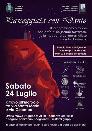 Sabato 24 una passeggiata dedicata a Dante per le vie di Bellinzago