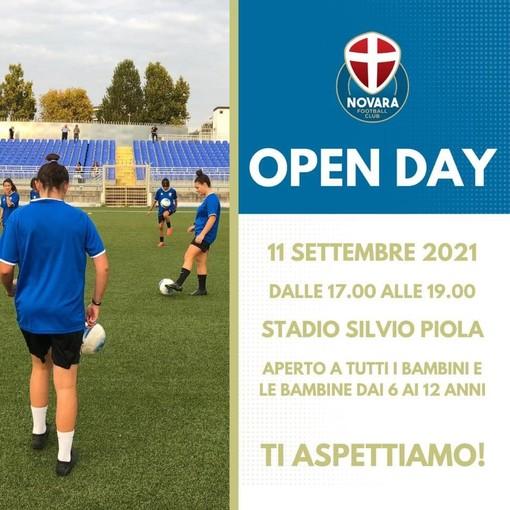 Si svolgerà domani allo stadio Silvio Piola l'openday del Novara Calcio
