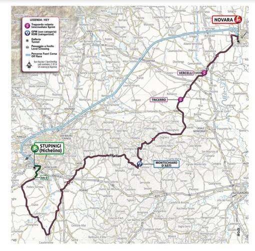 Giro d'Italia: a Novara già da sabato nei pressi dell'arrivo stop a traffico e sosta