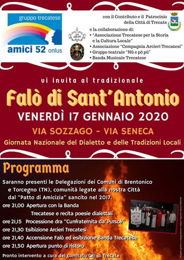 Trecate, tradizionale falò di Sant'Antonio il 17 gennaio