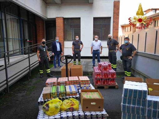 La solidarietà dei Vigili del Fuoco nell'emergenza Covid